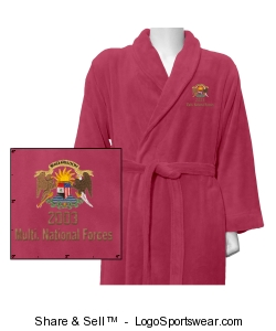 Luxury Unisex Plush Robe Design Zoom
